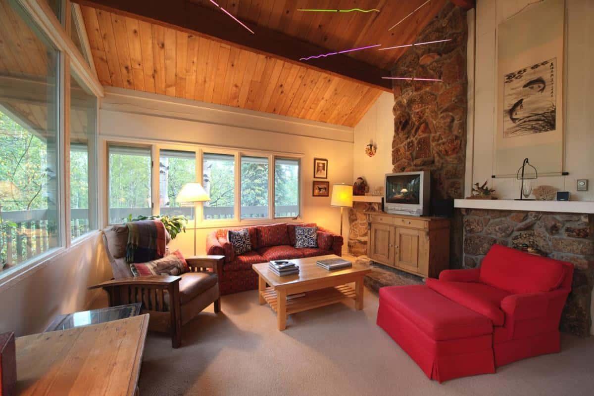 best cabins aspen large house living room