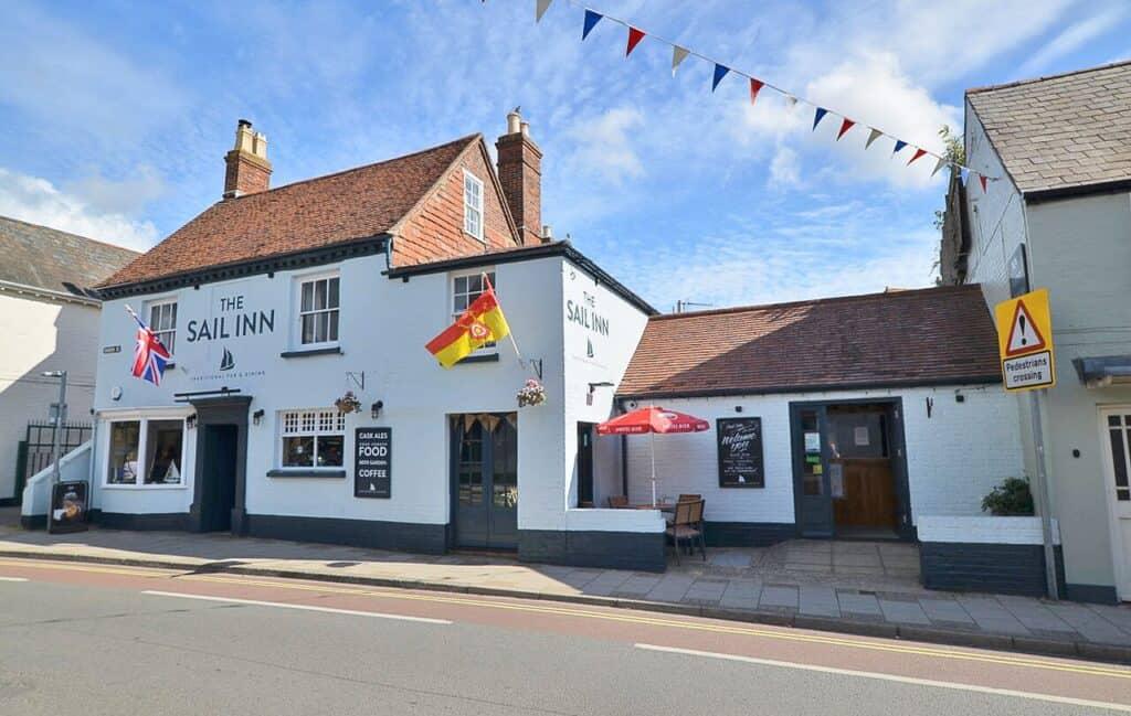 best pubs new forest lymington the sail inn