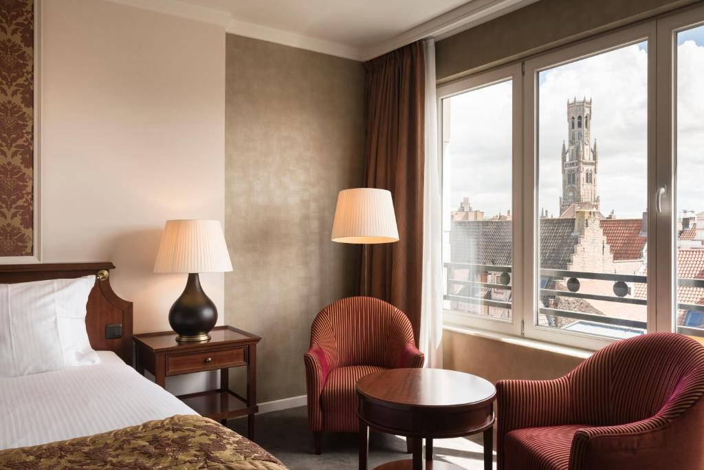best hotels in Bruges Hotel Dukes' Palace Brugge view