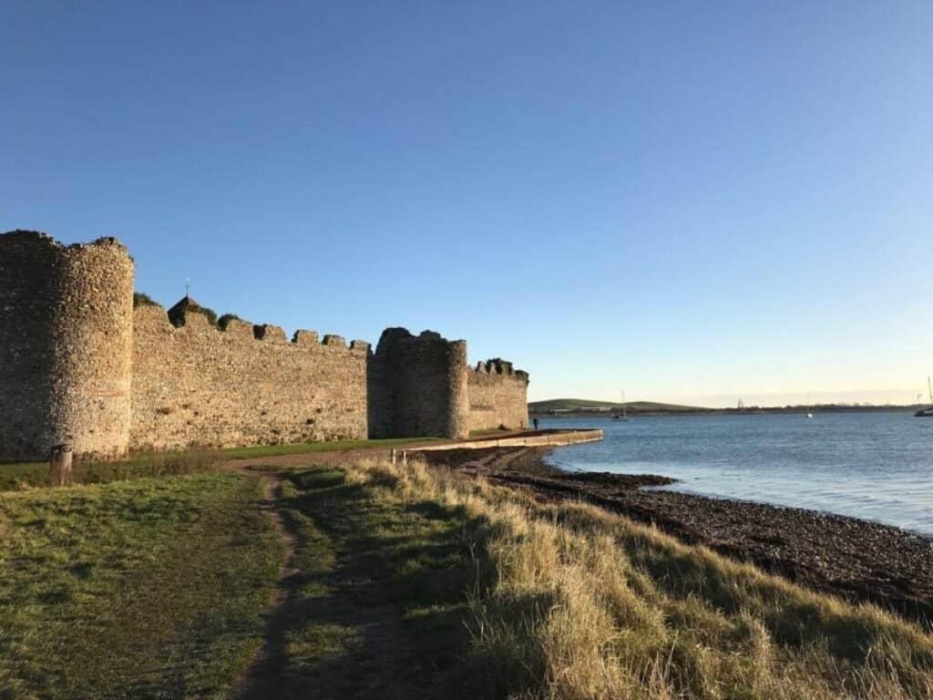 best portsmouth beaches Portchester Castle Beach